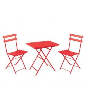 3513 Set 2 sedie pieghevoli + 1 tavolo pieghevole