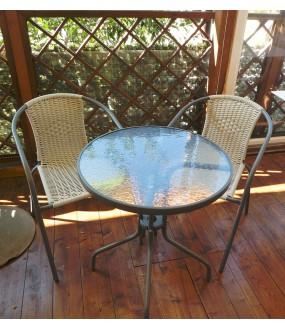 set  2 sedie + tavolino